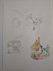 模写水彩ペン画1-04