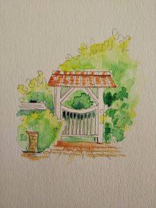 模写水彩ペン画1-07