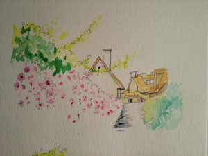 模写水彩ペン画1-09