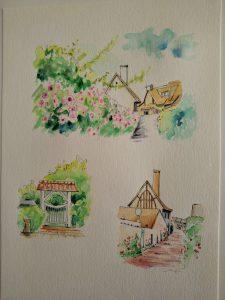 模写水彩ペン画1-10